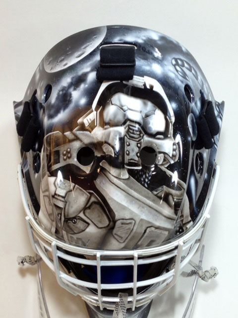 Goalie Mask Airbrushing Long Island Airbrush Artist